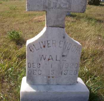 WALZ, OLIVER ENOCH - McIntosh County, North Dakota   OLIVER ENOCH WALZ - North Dakota Gravestone Photos