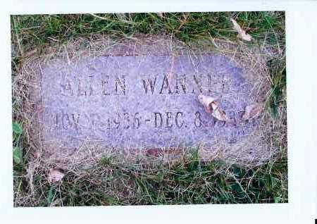 WANNER, ALLEN - McIntosh County, North Dakota | ALLEN WANNER - North Dakota Gravestone Photos