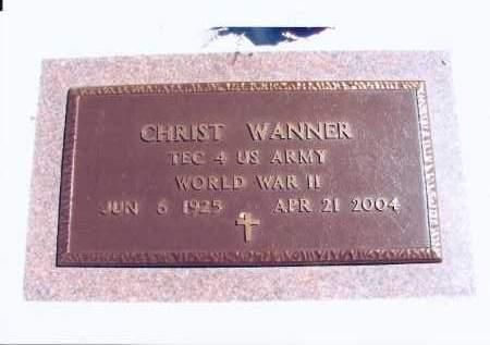 WANNER, CHRIST - McIntosh County, North Dakota | CHRIST WANNER - North Dakota Gravestone Photos