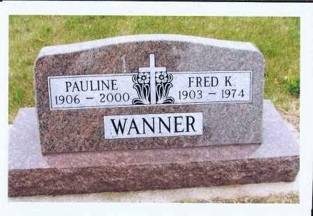 WANNER, FRED K. - McIntosh County, North Dakota | FRED K. WANNER - North Dakota Gravestone Photos