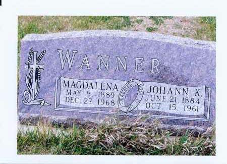 WANNER, JOHANN K. - McIntosh County, North Dakota | JOHANN K. WANNER - North Dakota Gravestone Photos