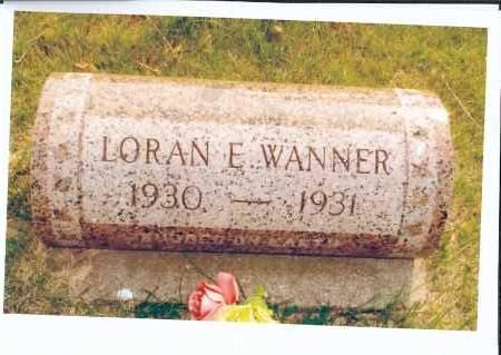 WANNER, LORAN E. - McIntosh County, North Dakota | LORAN E. WANNER - North Dakota Gravestone Photos
