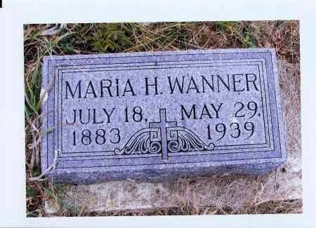 WANNER, MARIA H. - McIntosh County, North Dakota | MARIA H. WANNER - North Dakota Gravestone Photos