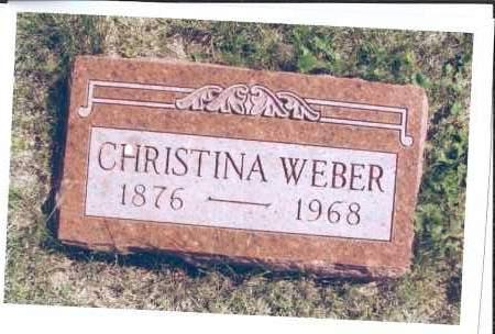 WEBER, CHRISTINA - McIntosh County, North Dakota | CHRISTINA WEBER - North Dakota Gravestone Photos