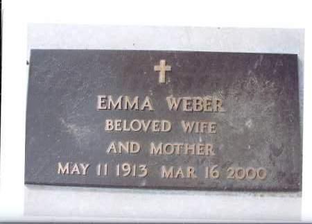 WEBER, EMMA - McIntosh County, North Dakota | EMMA WEBER - North Dakota Gravestone Photos