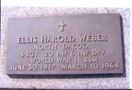 WEBER, ELLIS HAROLD - McIntosh County, North Dakota | ELLIS HAROLD WEBER - North Dakota Gravestone Photos