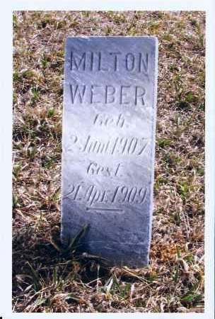 WEBER, MILTON - McIntosh County, North Dakota | MILTON WEBER - North Dakota Gravestone Photos