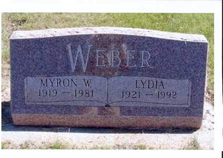 WEBER, LYDIA - McIntosh County, North Dakota | LYDIA WEBER - North Dakota Gravestone Photos