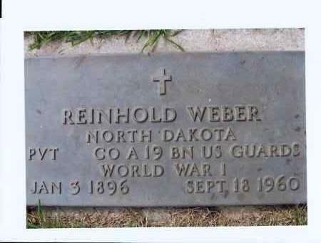 WEBER, REINHOLD - McIntosh County, North Dakota | REINHOLD WEBER - North Dakota Gravestone Photos