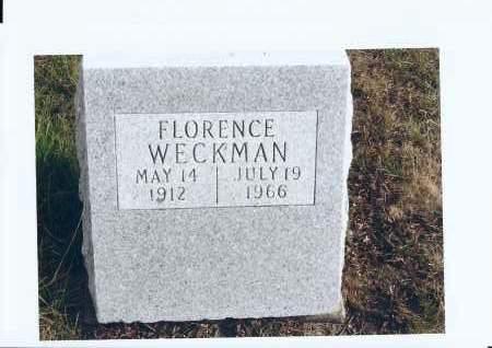 WECKMAN, FLORENCE - McIntosh County, North Dakota | FLORENCE WECKMAN - North Dakota Gravestone Photos