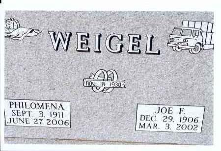 WEIGEL, JOE F. - McIntosh County, North Dakota | JOE F. WEIGEL - North Dakota Gravestone Photos