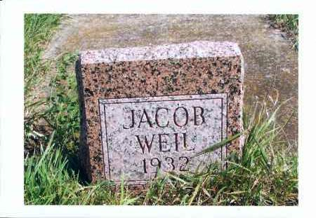 WEIL, JACOB - McIntosh County, North Dakota   JACOB WEIL - North Dakota Gravestone Photos