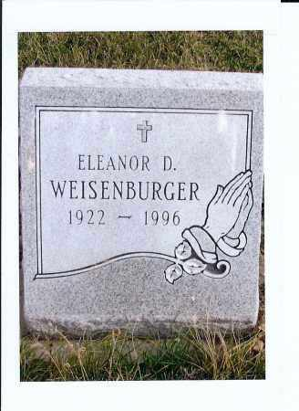 WEISEBURGER, ELEANOR D. - McIntosh County, North Dakota | ELEANOR D. WEISEBURGER - North Dakota Gravestone Photos