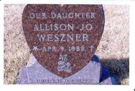 WESZNER, ALLISON JO - McIntosh County, North Dakota | ALLISON JO WESZNER - North Dakota Gravestone Photos