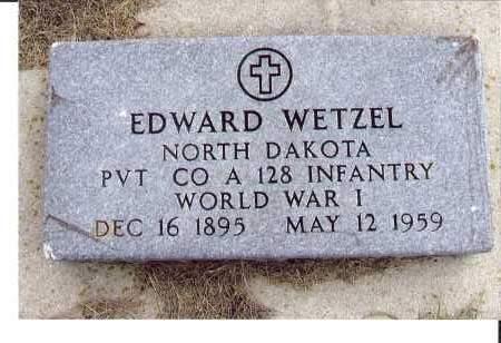 WETZEL, EDWARD - McIntosh County, North Dakota | EDWARD WETZEL - North Dakota Gravestone Photos