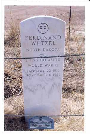 WETZEL, FERDINAND - McIntosh County, North Dakota | FERDINAND WETZEL - North Dakota Gravestone Photos