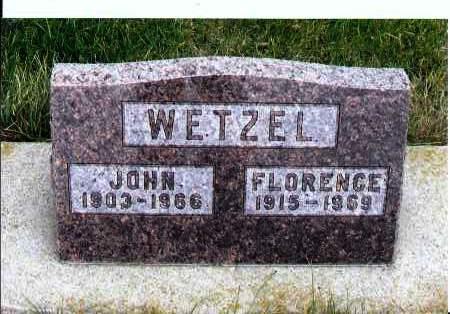 WETZEL, FLORENCE - McIntosh County, North Dakota | FLORENCE WETZEL - North Dakota Gravestone Photos