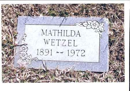 WETZEL, MATHILDA - McIntosh County, North Dakota | MATHILDA WETZEL - North Dakota Gravestone Photos