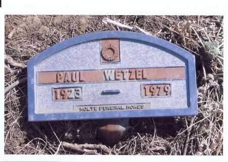 WETZEL, PAUL - McIntosh County, North Dakota   PAUL WETZEL - North Dakota Gravestone Photos
