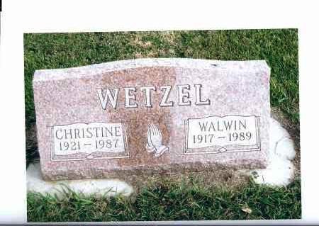 WETZEL, WALWIN - McIntosh County, North Dakota | WALWIN WETZEL - North Dakota Gravestone Photos