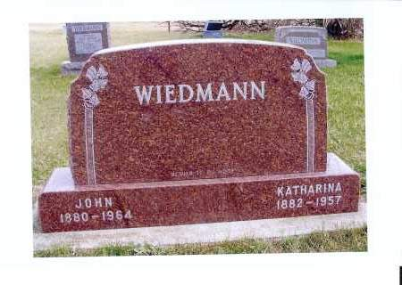 HAAS WIEDMANN, KATHARINA - McIntosh County, North Dakota | KATHARINA HAAS WIEDMANN - North Dakota Gravestone Photos