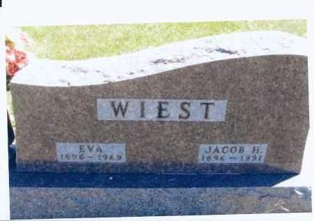 WIEST, EVA - McIntosh County, North Dakota   EVA WIEST - North Dakota Gravestone Photos