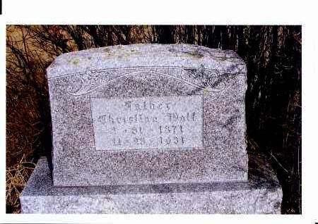WOLF, CHRISTIAN - McIntosh County, North Dakota   CHRISTIAN WOLF - North Dakota Gravestone Photos