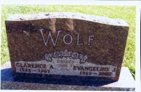 WOLF, CLARENCE A. - McIntosh County, North Dakota | CLARENCE A. WOLF - North Dakota Gravestone Photos