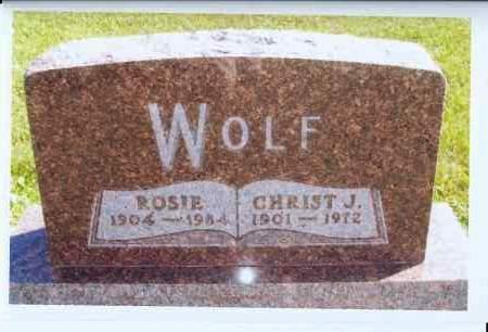WOLF, CHRIST J. - McIntosh County, North Dakota | CHRIST J. WOLF - North Dakota Gravestone Photos