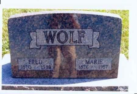 TRICHEL WOLF, MARIE - McIntosh County, North Dakota | MARIE TRICHEL WOLF - North Dakota Gravestone Photos