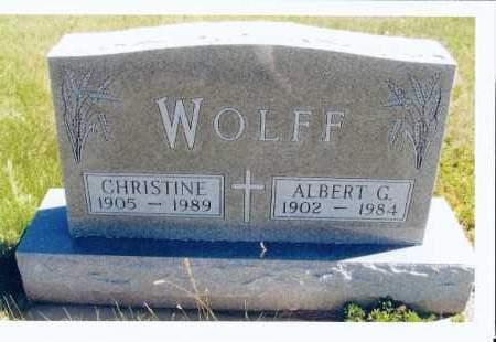 SIFFERMAN WOLFF, CHRISTINE - McIntosh County, North Dakota | CHRISTINE SIFFERMAN WOLFF - North Dakota Gravestone Photos