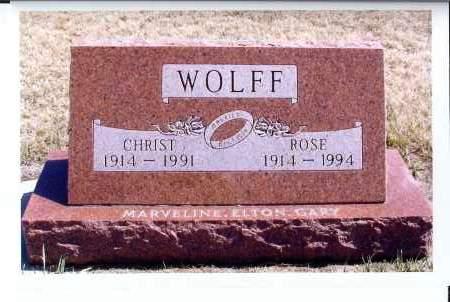 WOLFF, CHRIST - McIntosh County, North Dakota | CHRIST WOLFF - North Dakota Gravestone Photos