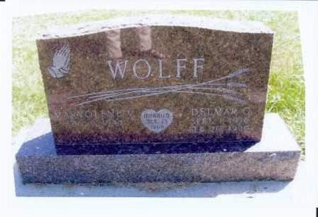 WOLFF, DELMAR, G. - McIntosh County, North Dakota   DELMAR, G. WOLFF - North Dakota Gravestone Photos
