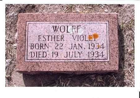 WOLFF, ESTHER VIOLET - McIntosh County, North Dakota | ESTHER VIOLET WOLFF - North Dakota Gravestone Photos