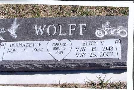 WOLFF, ELTON V. - McIntosh County, North Dakota | ELTON V. WOLFF - North Dakota Gravestone Photos