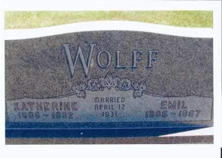 WOLFF, EMIL - McIntosh County, North Dakota | EMIL WOLFF - North Dakota Gravestone Photos