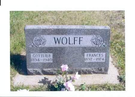 WOLFF, FRANCES FANNY - McIntosh County, North Dakota | FRANCES FANNY WOLFF - North Dakota Gravestone Photos