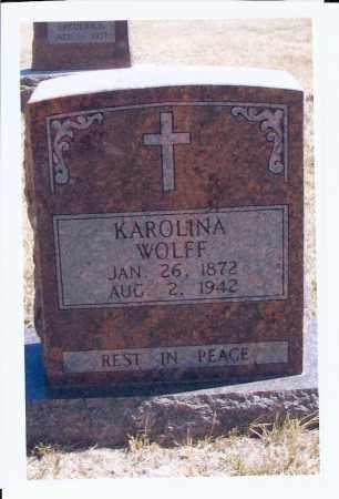 WOLFF, KAROLINA - McIntosh County, North Dakota | KAROLINA WOLFF - North Dakota Gravestone Photos