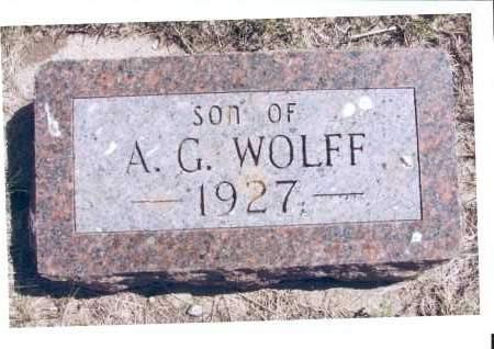 WOLFF, SON - McIntosh County, North Dakota | SON WOLFF - North Dakota Gravestone Photos