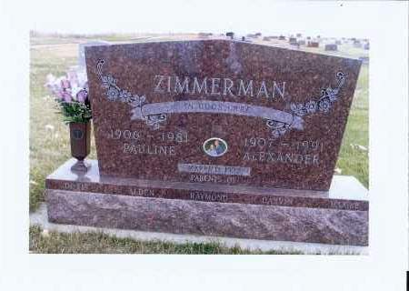 ZIMMERMAN, ALEXANDER - McIntosh County, North Dakota | ALEXANDER ZIMMERMAN - North Dakota Gravestone Photos