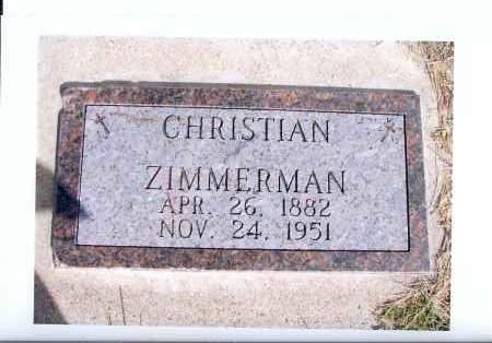 ZIMMERMAN, CHRISTIAN - McIntosh County, North Dakota | CHRISTIAN ZIMMERMAN - North Dakota Gravestone Photos