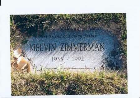 ZIMMERMAN, MELVIN - McIntosh County, North Dakota | MELVIN ZIMMERMAN - North Dakota Gravestone Photos