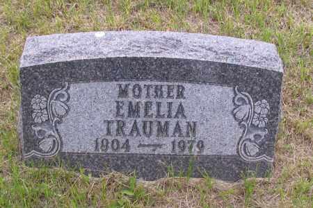 TRAUMAN, EMELIA - Morton County, North Dakota | EMELIA TRAUMAN - North Dakota Gravestone Photos