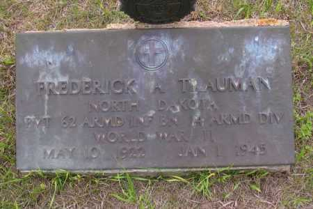 TRAUMAN, FREDERICK A. - Morton County, North Dakota   FREDERICK A. TRAUMAN - North Dakota Gravestone Photos