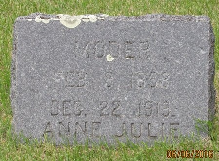 AASER, ANNE JULIE - Nelson County, North Dakota   ANNE JULIE AASER - North Dakota Gravestone Photos