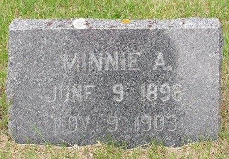 AASER, MINNIE A. - Nelson County, North Dakota   MINNIE A. AASER - North Dakota Gravestone Photos