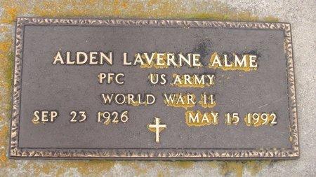 ALME, ALDEN LAVERNE - Nelson County, North Dakota   ALDEN LAVERNE ALME - North Dakota Gravestone Photos