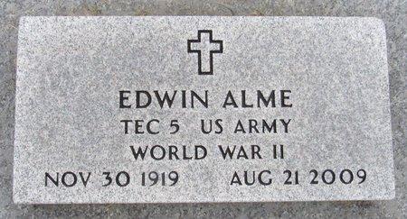 ALME, EDWIN - Nelson County, North Dakota | EDWIN ALME - North Dakota Gravestone Photos