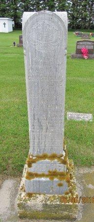 ALME, INGA CHRISTINA N. - Nelson County, North Dakota | INGA CHRISTINA N. ALME - North Dakota Gravestone Photos