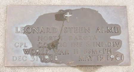 ALME, LEONARD STEEN - Nelson County, North Dakota | LEONARD STEEN ALME - North Dakota Gravestone Photos